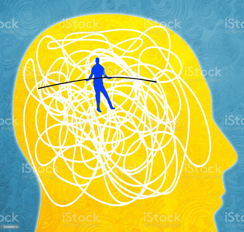 mental disorder stock photo