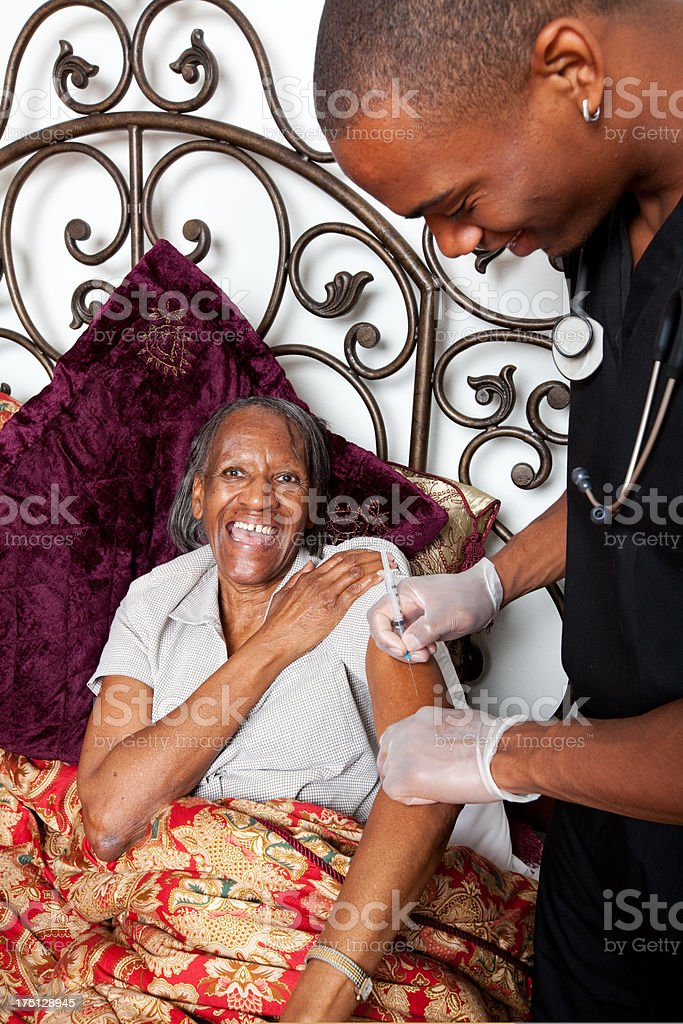Mental Health Ageism Home Healthcare Vacination royalty-free stock photo