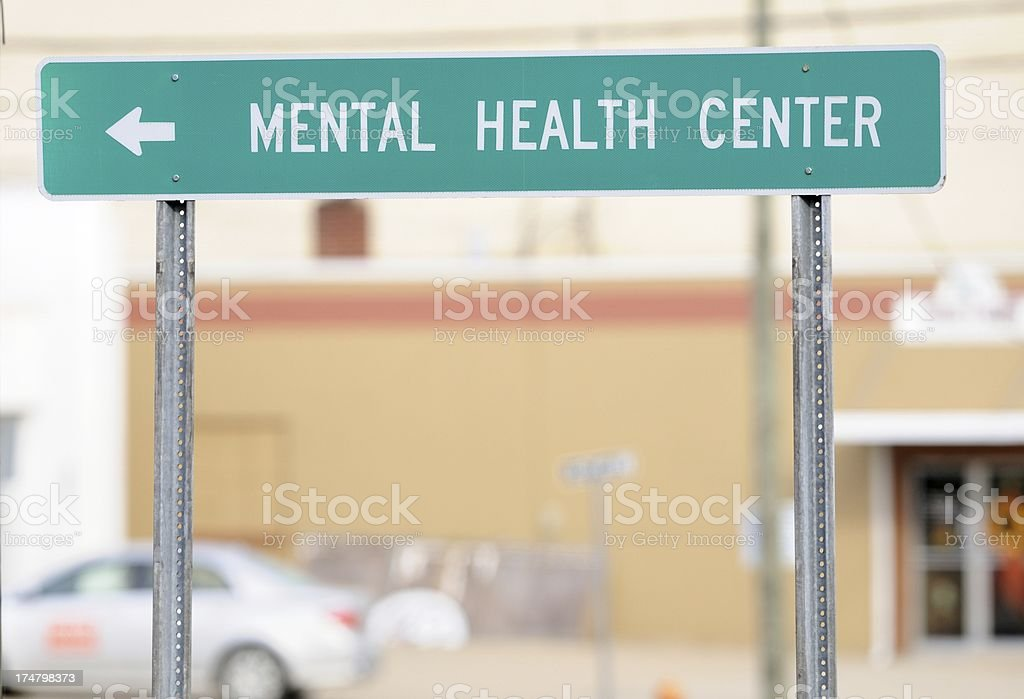 Mental health center sign royalty-free stock photo