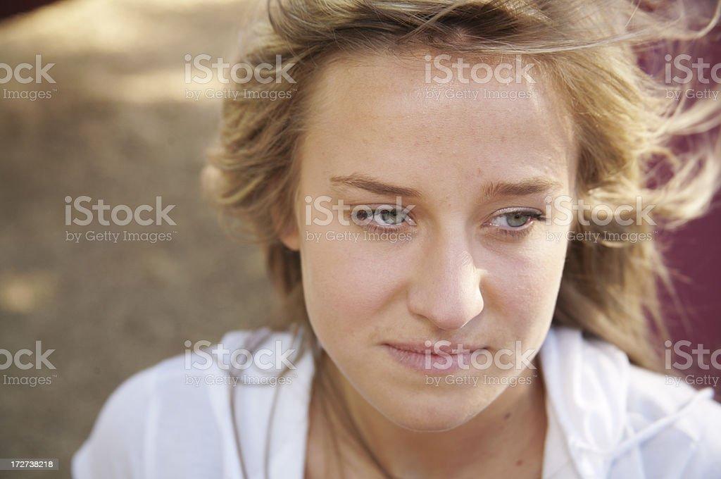 Mental Health Facial Expression Depression royalty-free stock photo