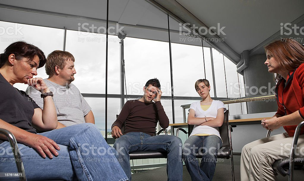 Mental Health Family therapy counseling session stock photo