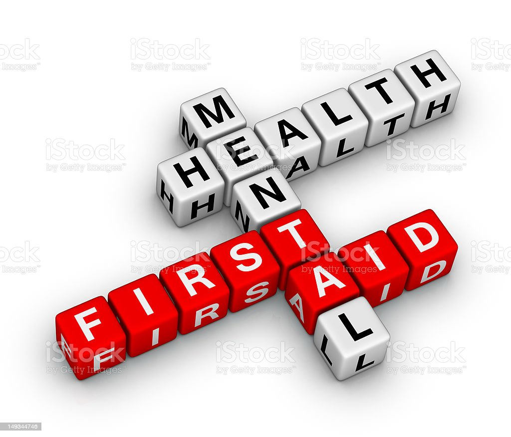 Mental Health First Aid royalty-free stock photo