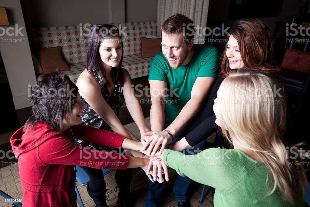 Mental Health Group Counseling royalty-free stock photo