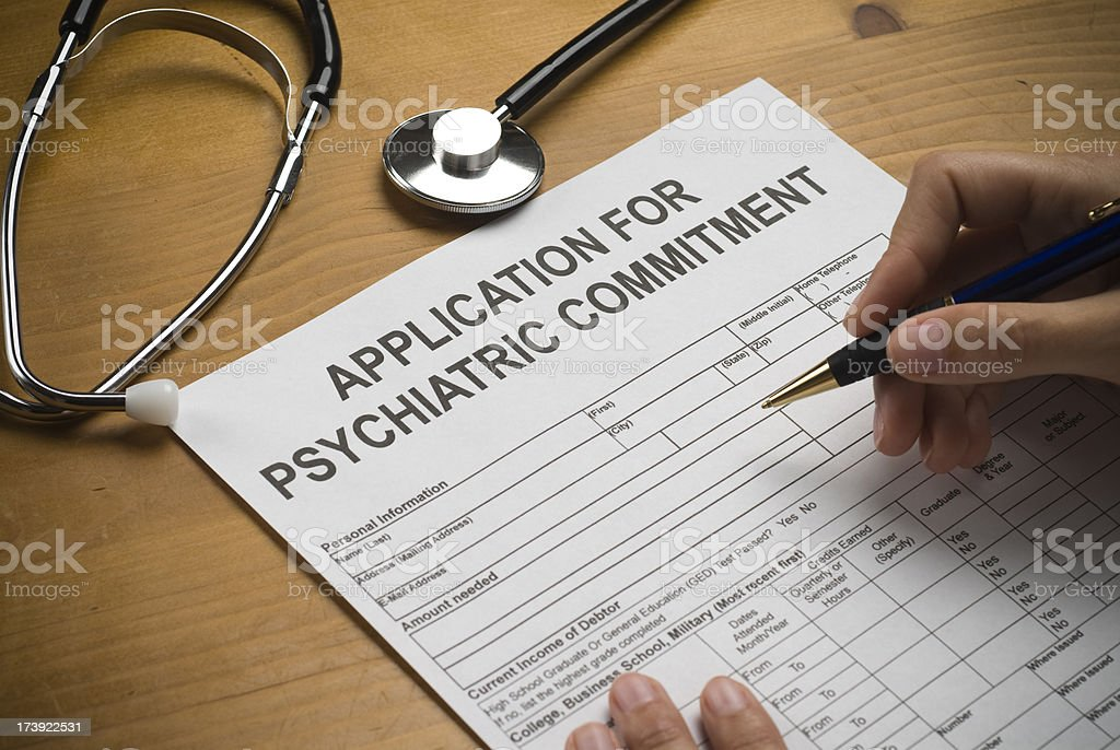 Mental Health Papers stock photo