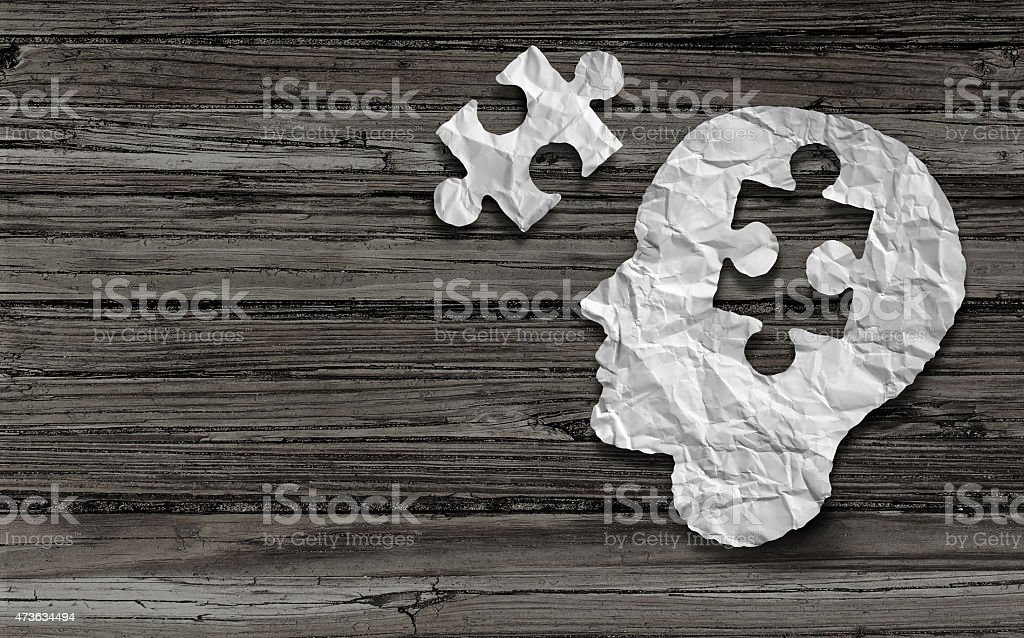 Mental Health Symbol stock photo