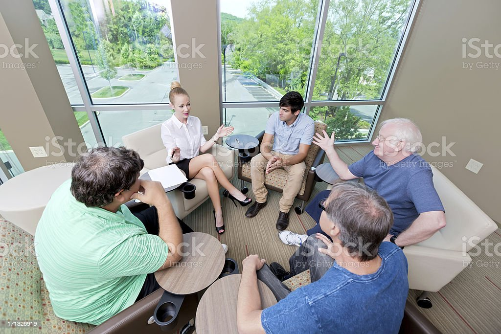 Mental Health : therapy counseling session stock photo