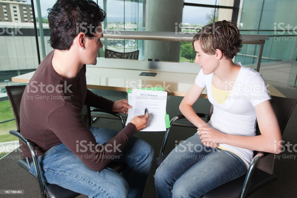 Mental Health Young Adult Forms royalty-free stock photo
