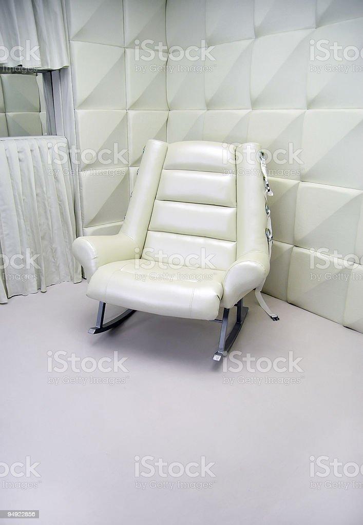 Mental hospital chair stock photo