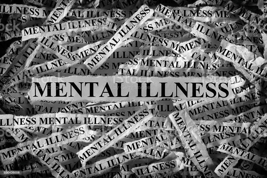 Mental illness stock photo