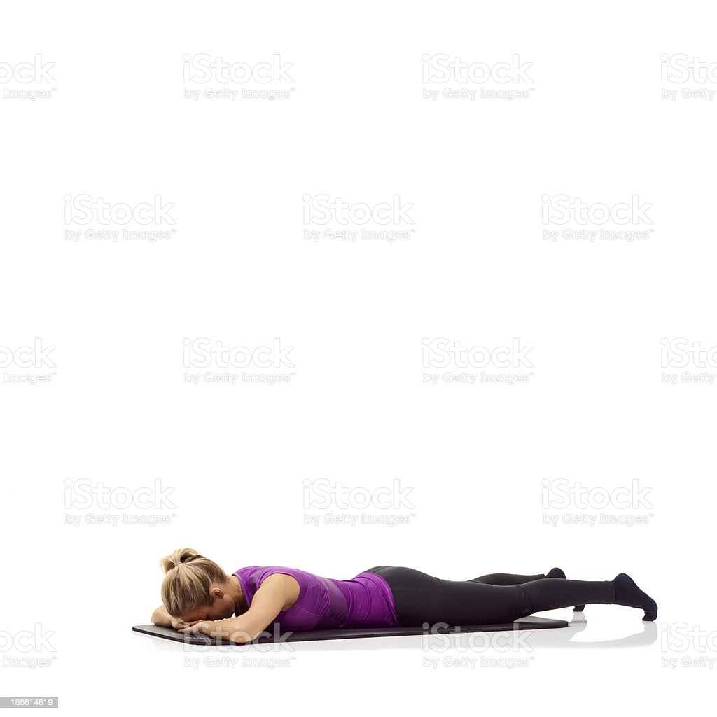 Mentally preparing for a workout royalty-free stock photo