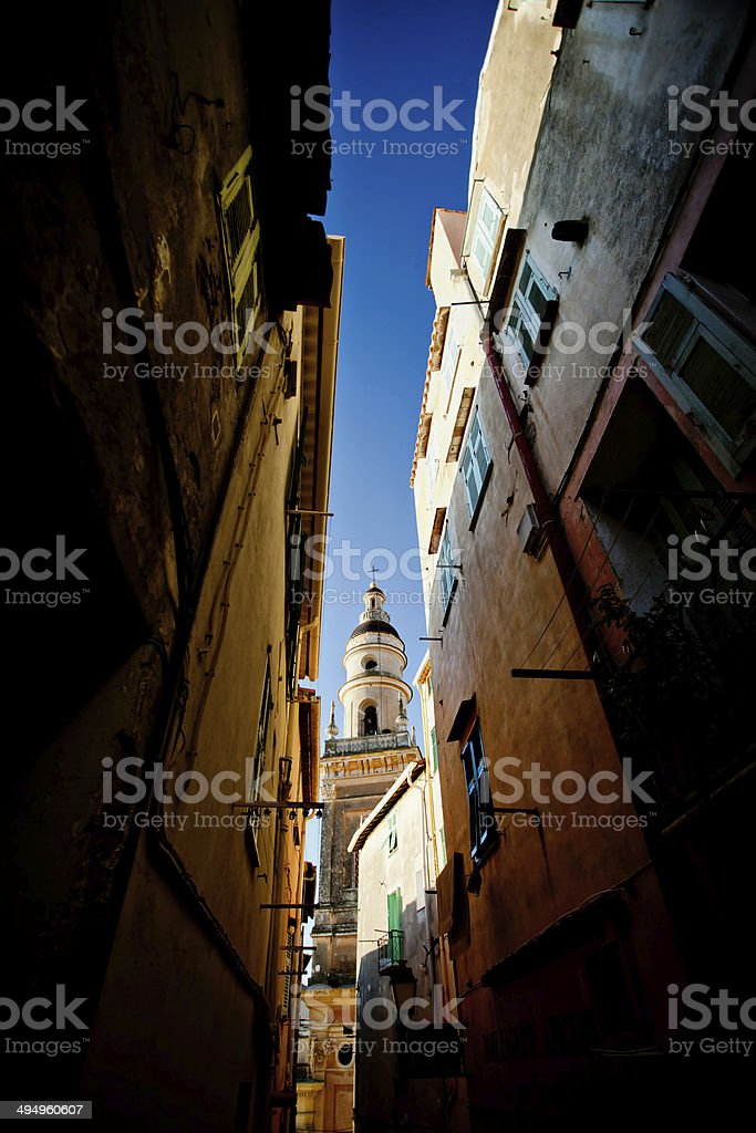 Menthon, the old town stock photo