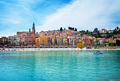Menton at summer, France