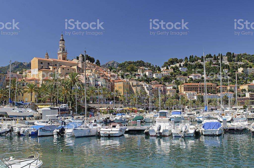 Menton on the Cote d'Azur royalty-free stock photo
