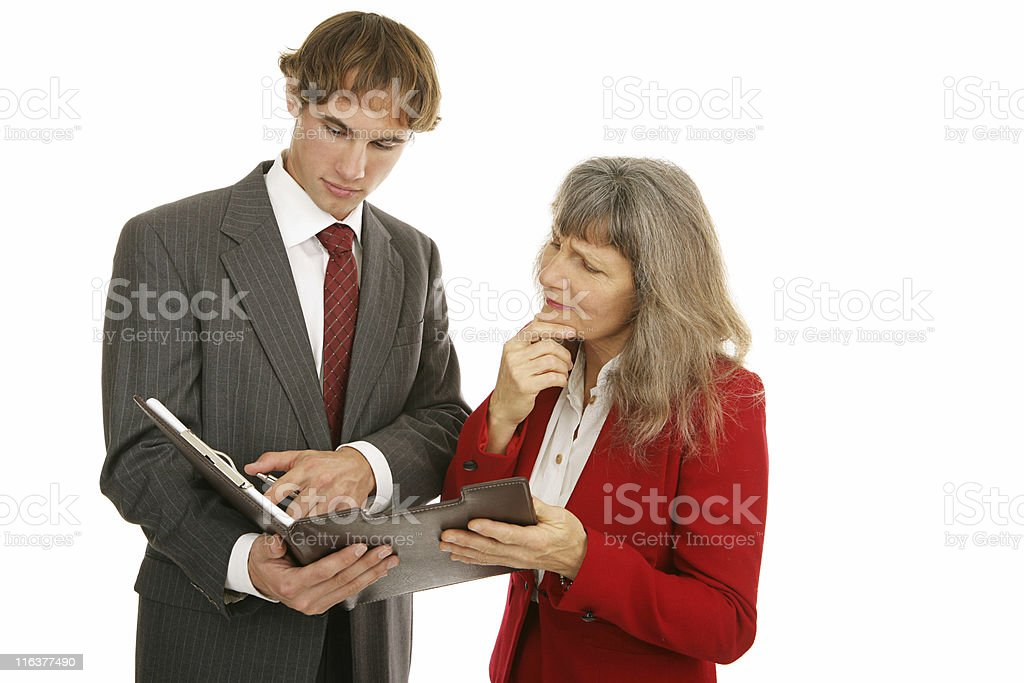 Mentor Series - Going Over Report royalty-free stock photo