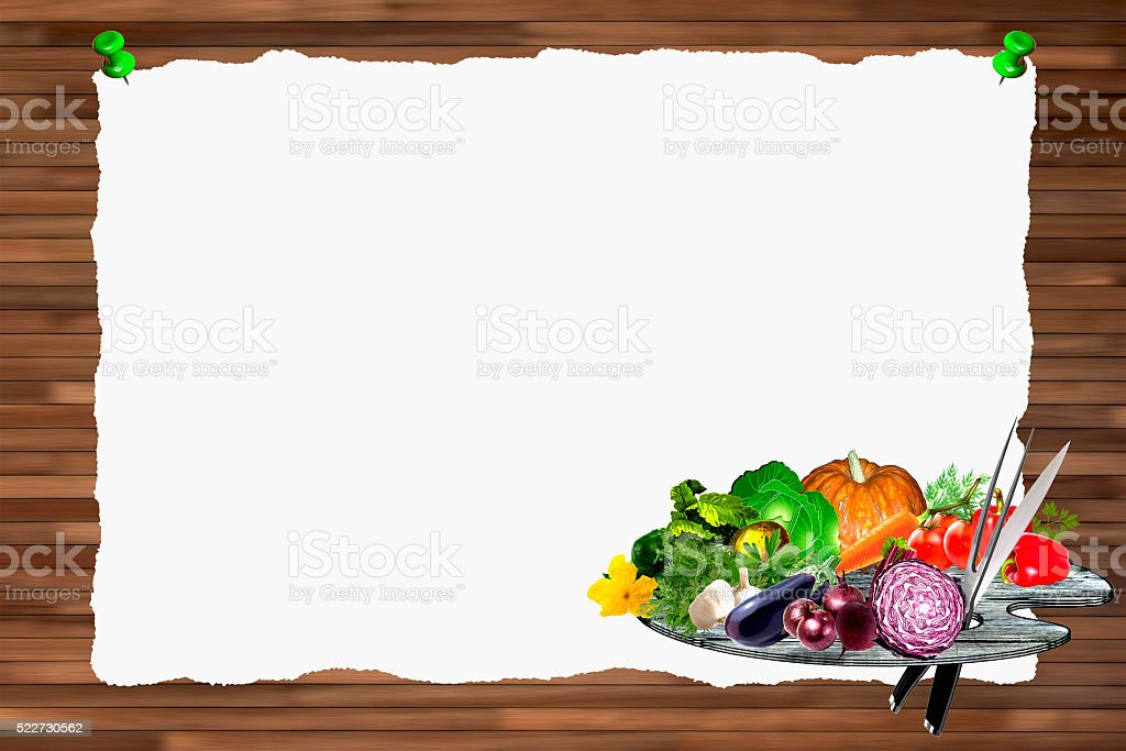 Menu background horizontal stock photo
