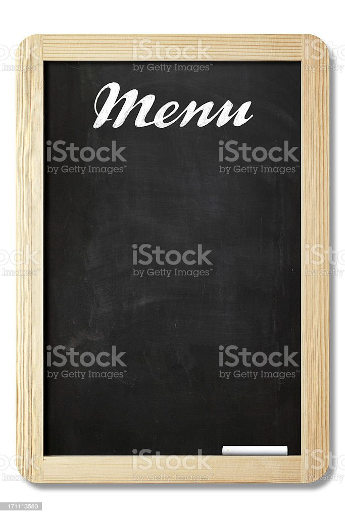 Menu Board With Clipping Path stock photo