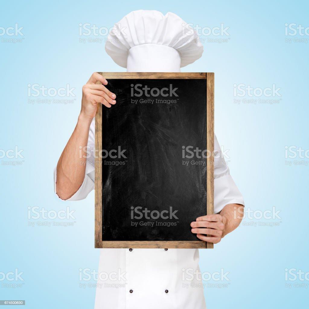 Menu chalkboard. stock photo