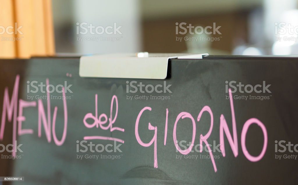 menu del giorno (daily specials) stock photo
