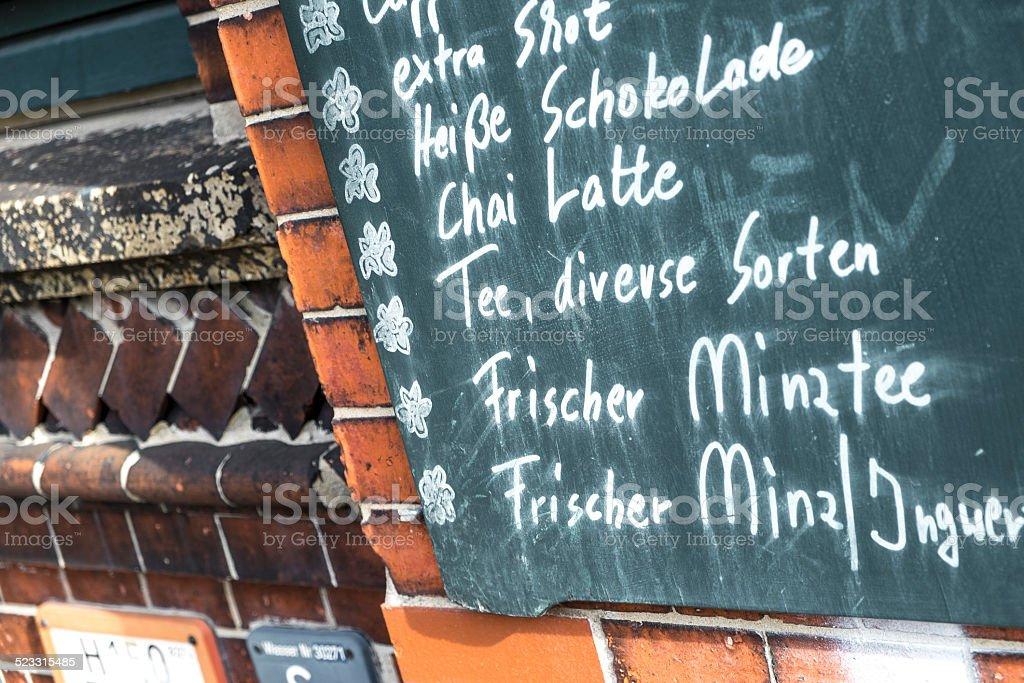 menu in German royalty-free stock photo