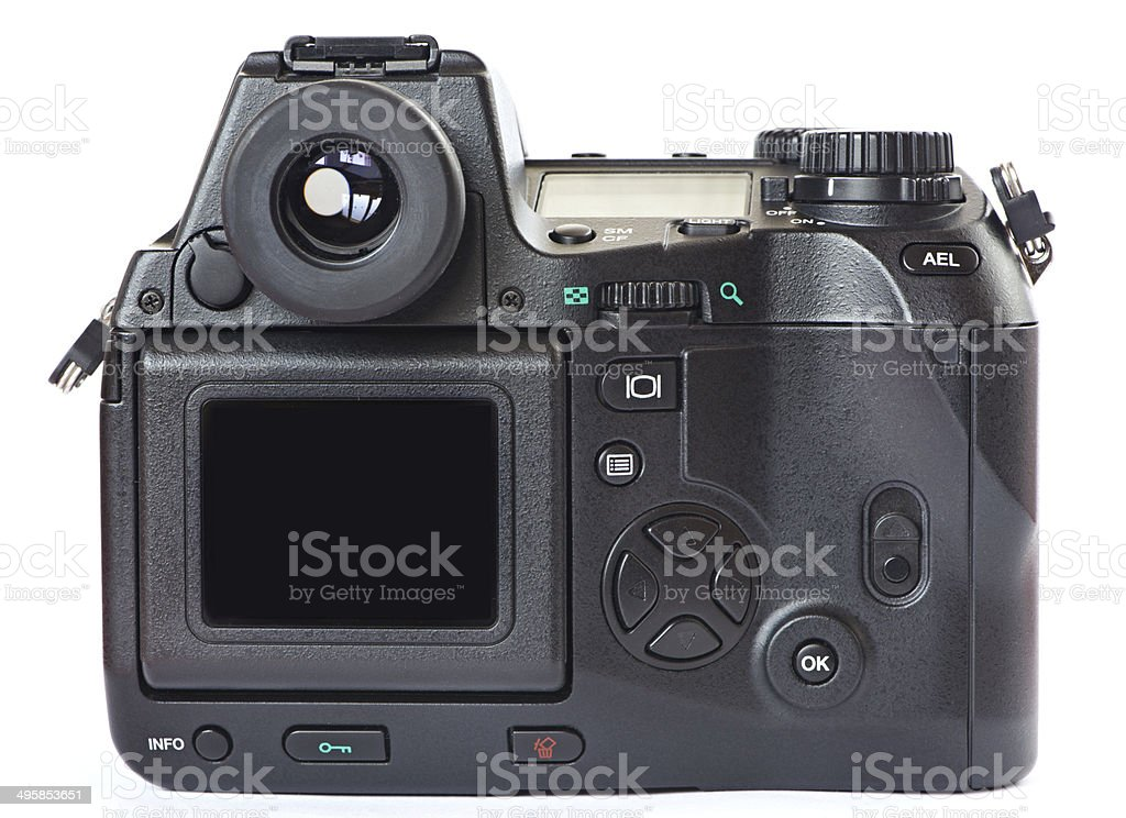Menu of digital photo camera stock photo