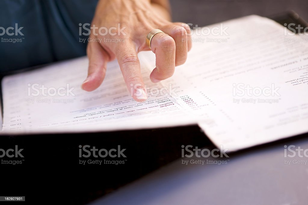 Menu royalty-free stock photo