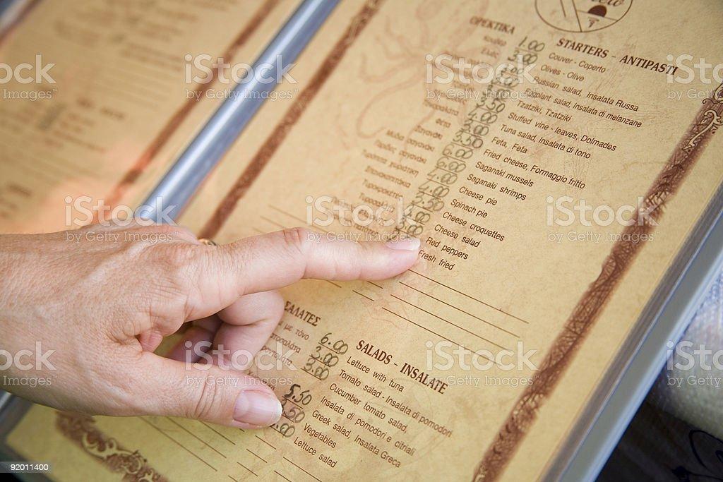 menu stock photo