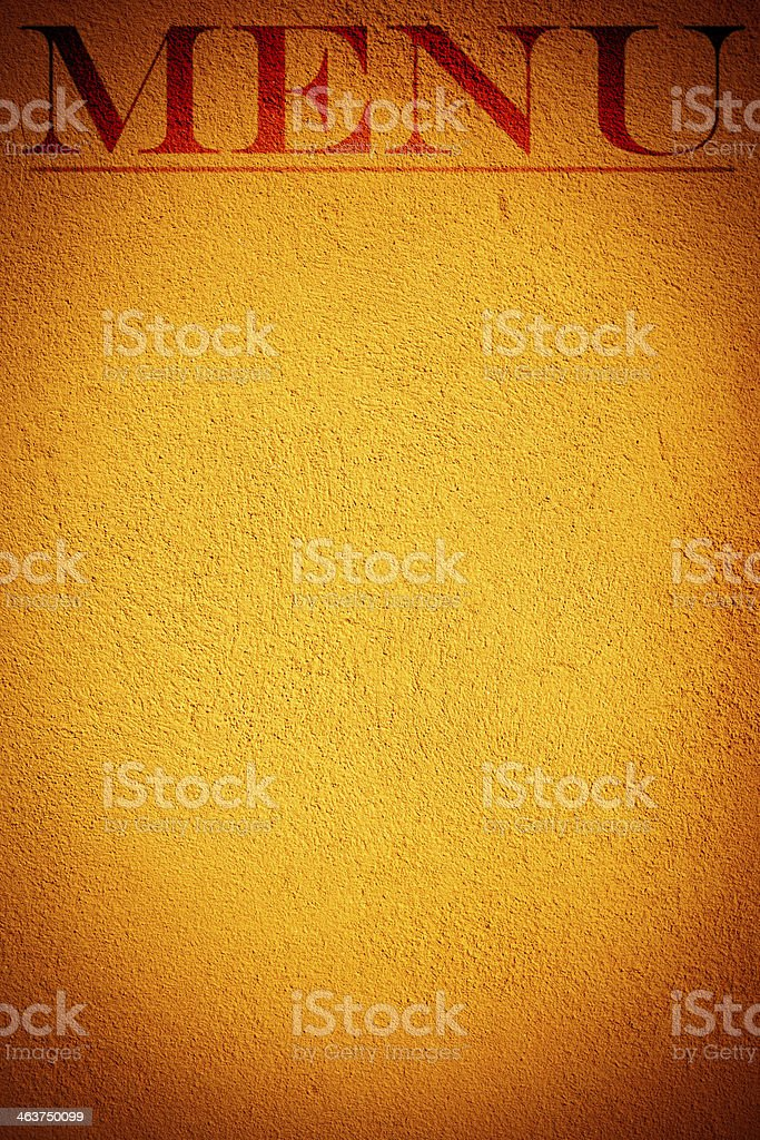 Menu - sign on the wall royalty-free stock photo