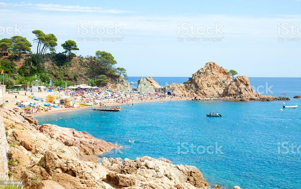 Menuda cove at Tossa de mar, Costa Brava stock photo