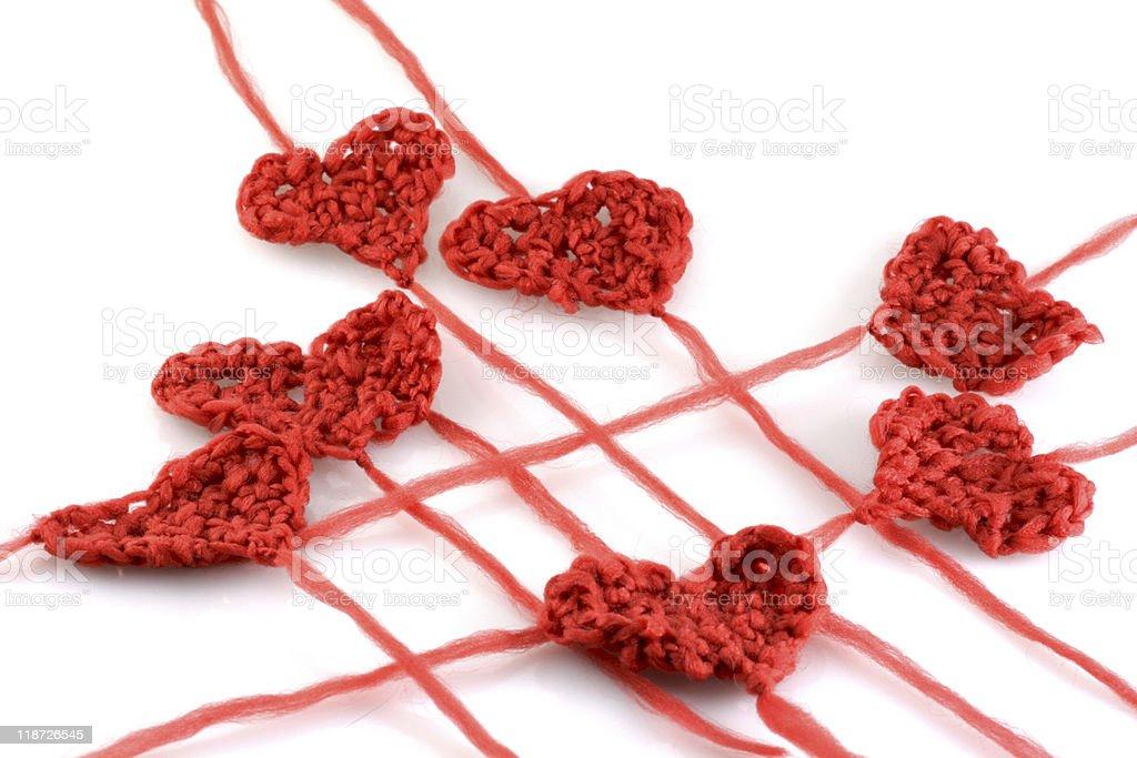 meny wool hearts on white royalty-free stock photo