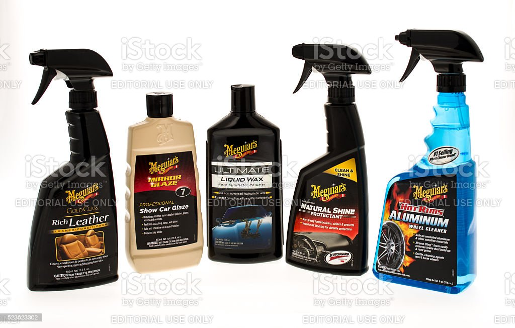 Mequiar's Cleaning Supplies stock photo