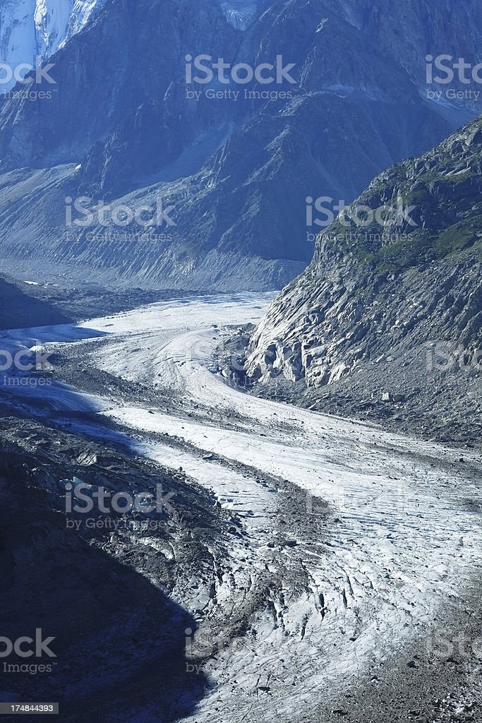 Mer de Glace Glacier in the Alps royalty-free stock photo
