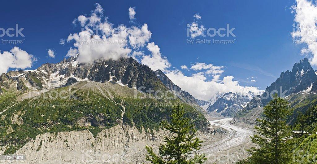 Mer de Glace glacier Mont Blanc Massif France stock photo
