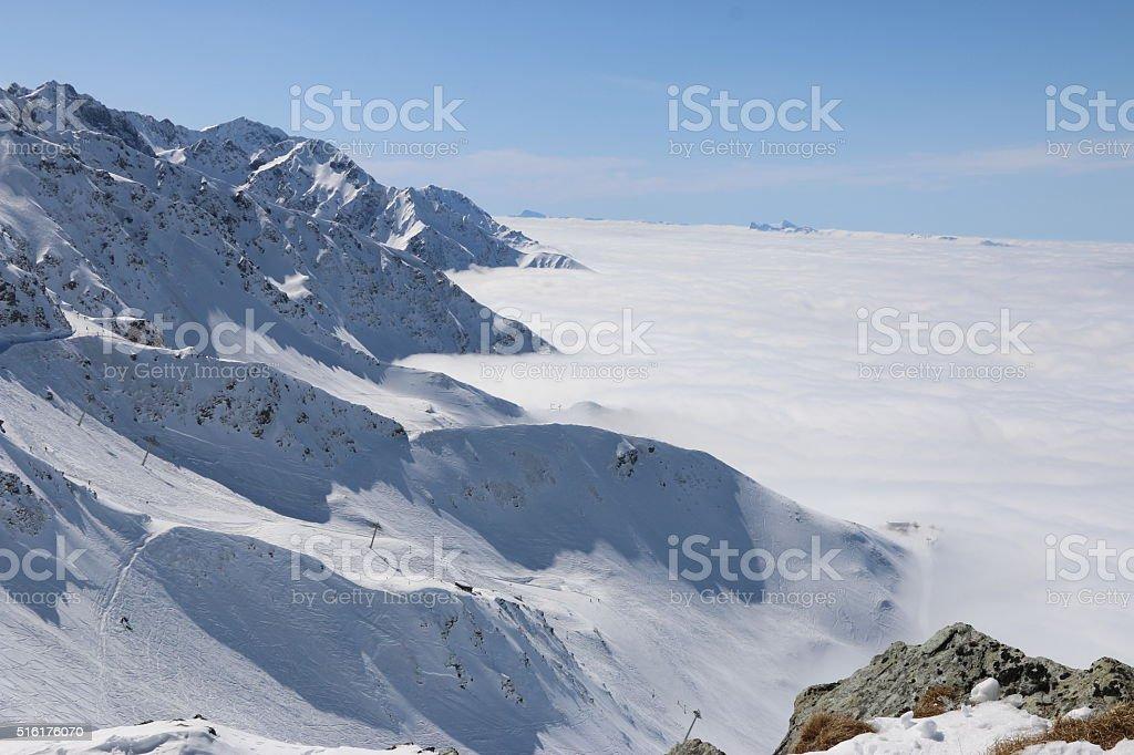 Mer de nuages stock photo