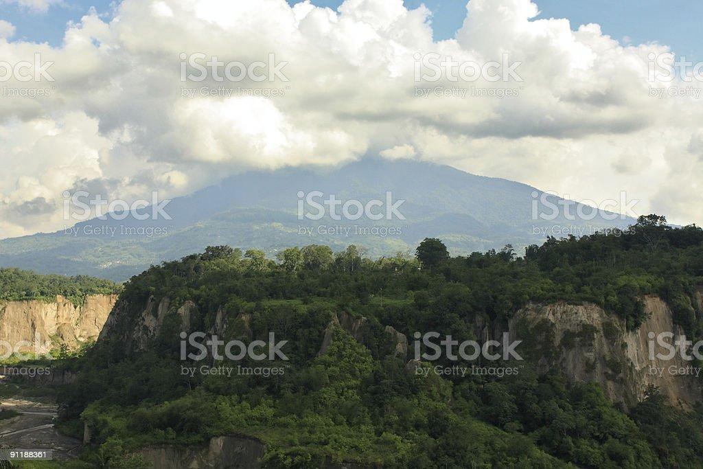 Merapi Mountain stock photo