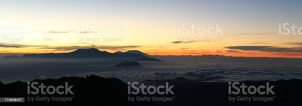 Merapi volcano, Indonesia stock photo
