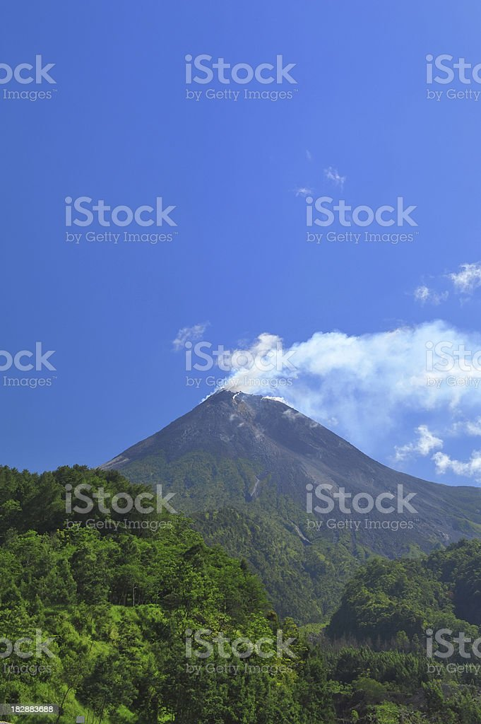 Merapi volcano stock photo