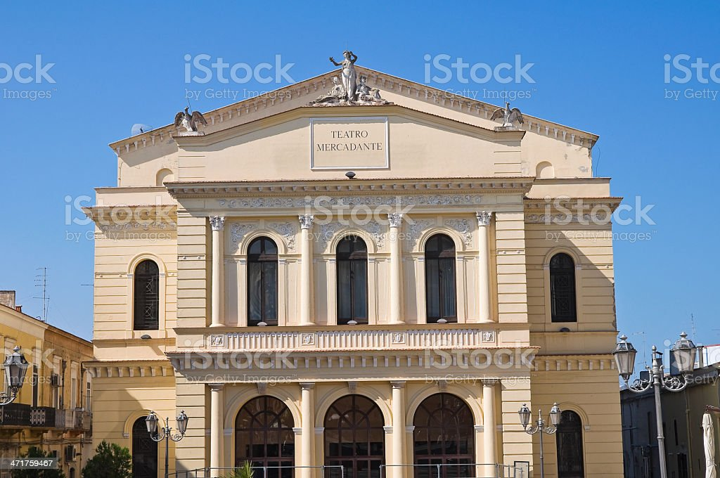 Mercadante theatre. Cerignola. Puglia. Italy. stock photo