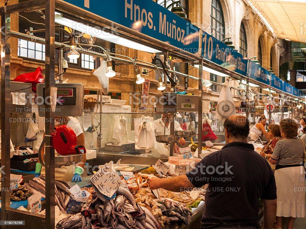 Mercado Central de Abastos in Jerez, Spain stock photo