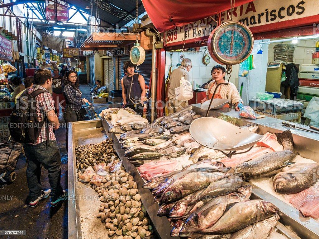 Mercado Central de Santiago stock photo