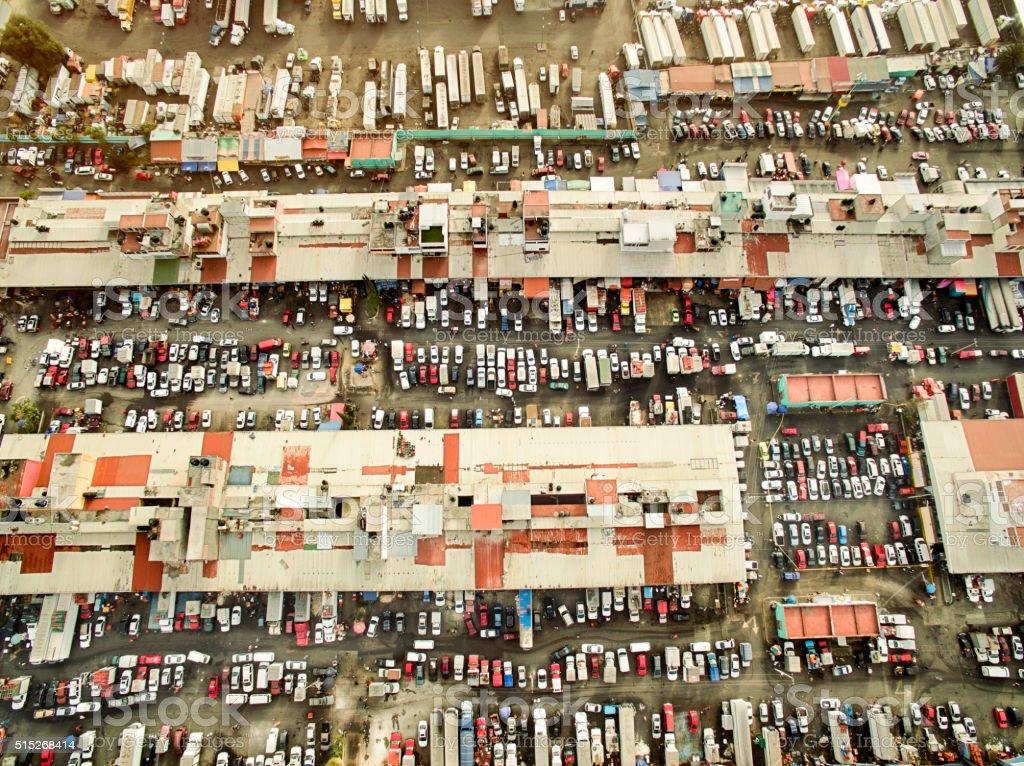 Mercado de Abastos, Mexico City stock photo