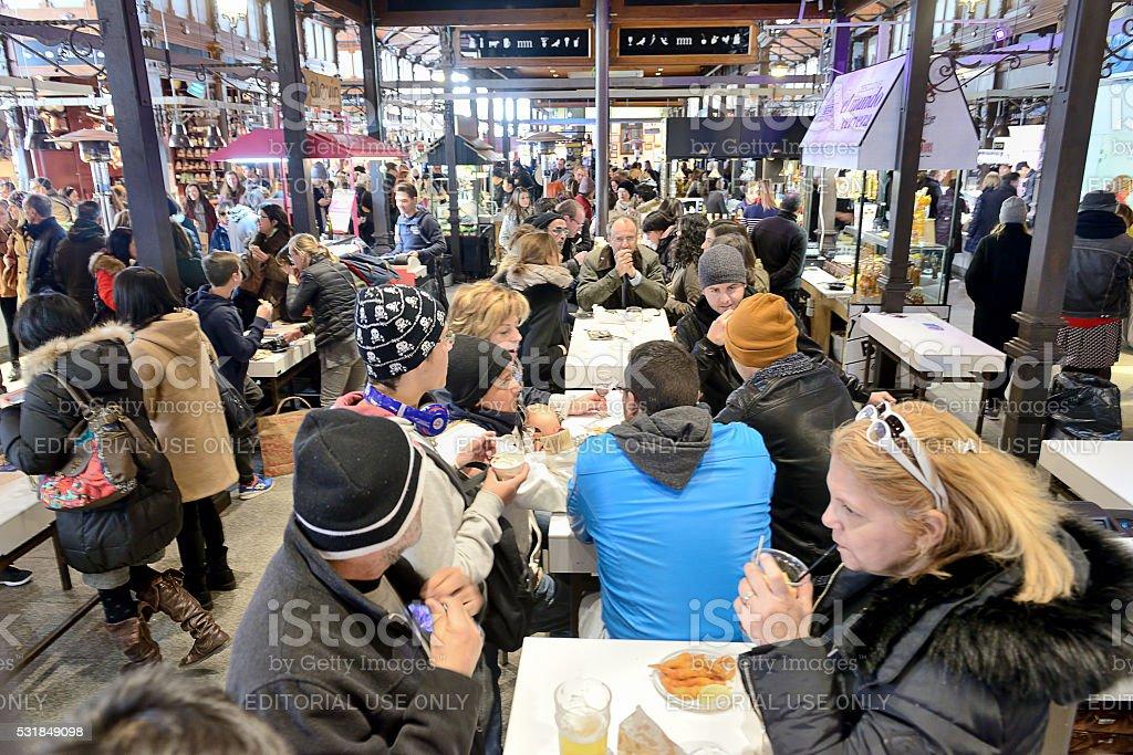 Mercado San Miguel in Madrid stock photo