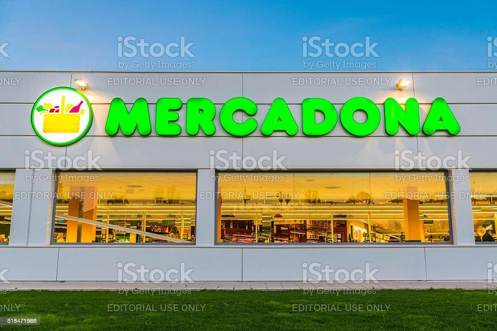 Mercadona supermarket, Spain stock photo
