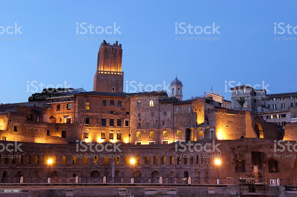 Mercati Traianei in Rome stock photo
