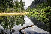 Merced River Flowing Through Yosemite Valley