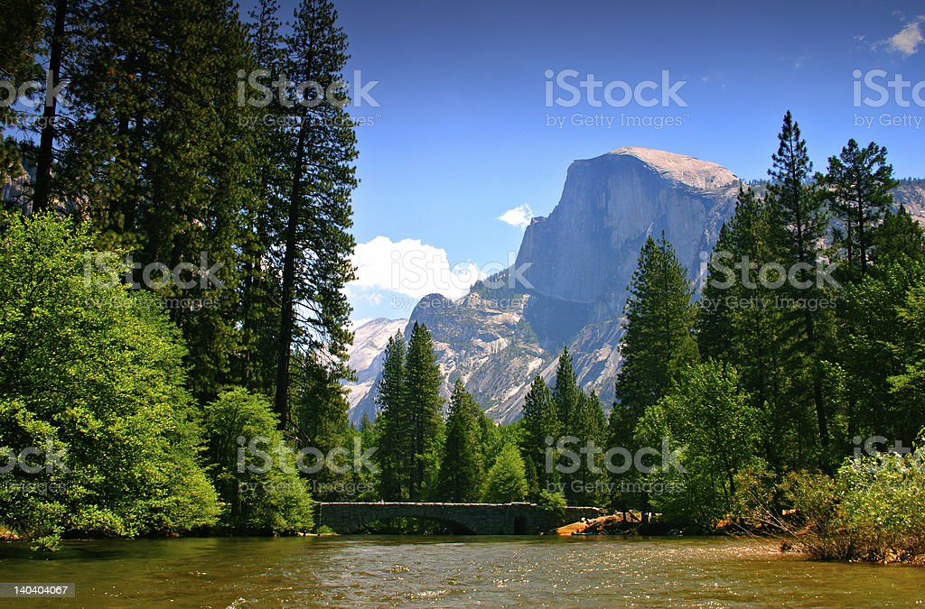 Merced River, Yosemite National Park stock photo