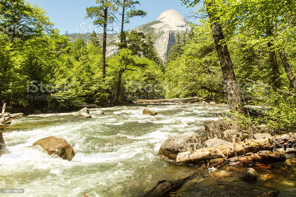 Merced River, Yosemite National Park, USA stock photo