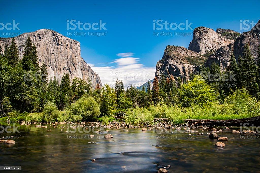 Merced River Yosemite stock photo