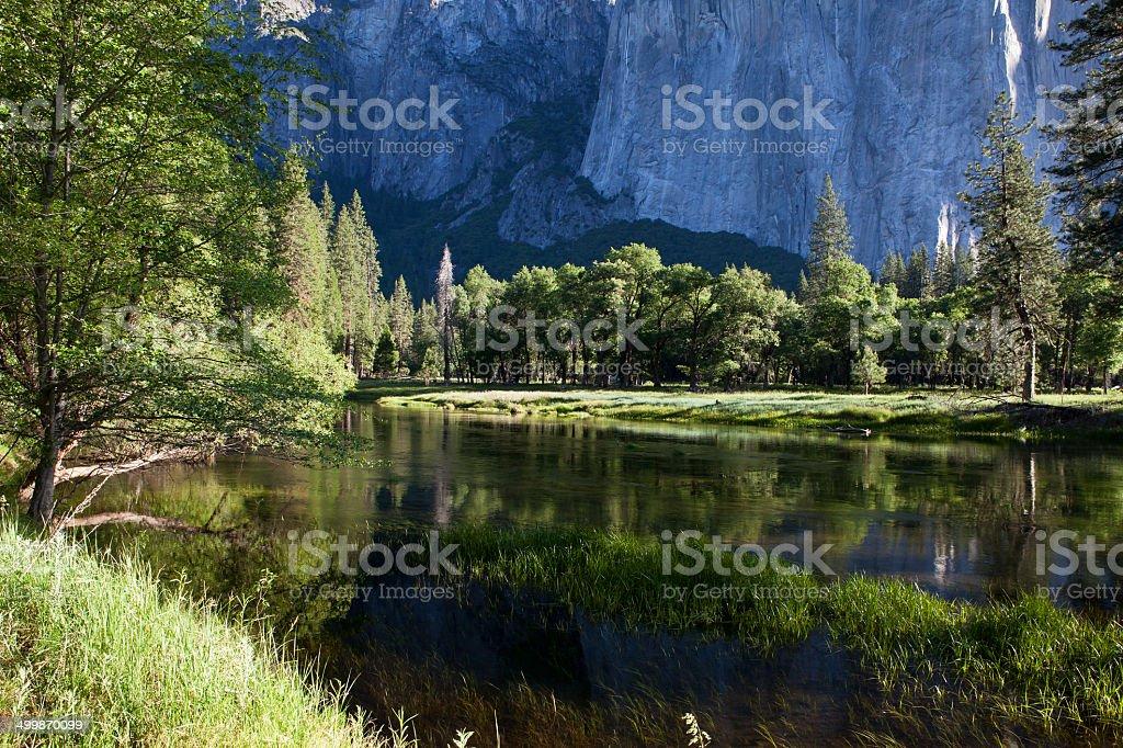 Merced River - Yosemite Valley stock photo