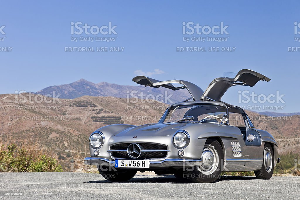 Mercededs 300 SL Gullwing royalty-free stock photo