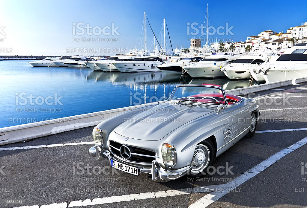 Mercedes 300 SL Roadster royalty-free stock photo